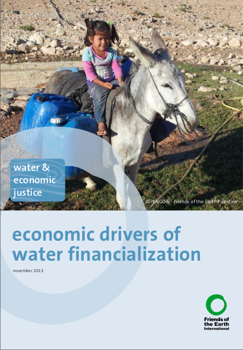 Gráfica alusiva a economic drivers of water financialization